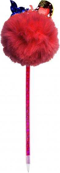 LG Imports Fluffy balpen met zeemeermin rood 28,5 cm kopen