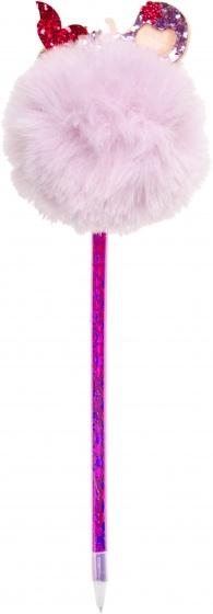 LG Imports Fluffy balpen met zeemeermin roze 28,5 cm kopen