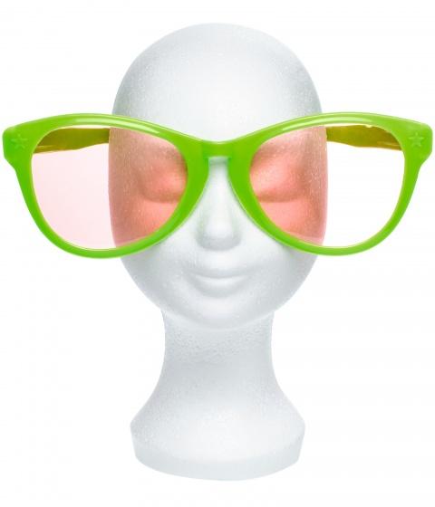 LG Imports funny glasses 25,5 cm groen