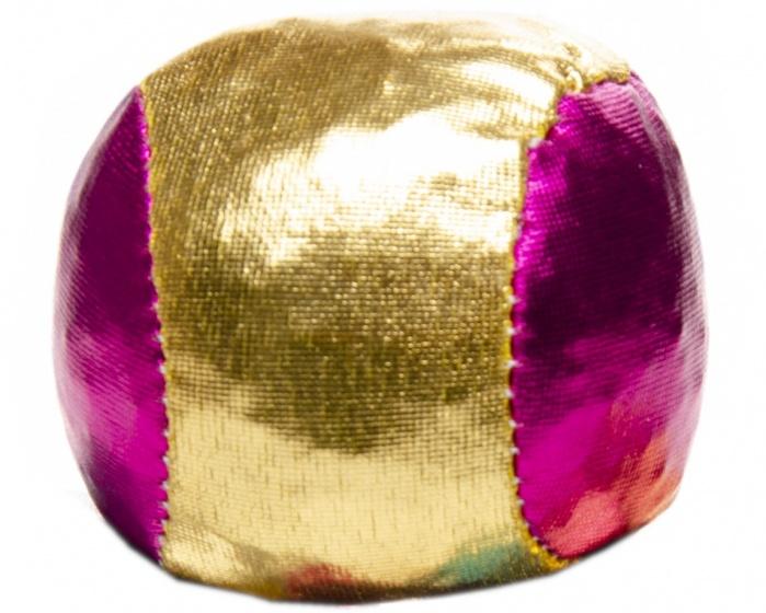 LG Imports bal voor blikgooien metallic 4 cm roze/goud per stuk
