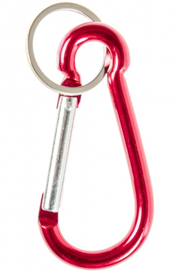LG Imports karabijnhaak sleutelhanger 8 cm rood