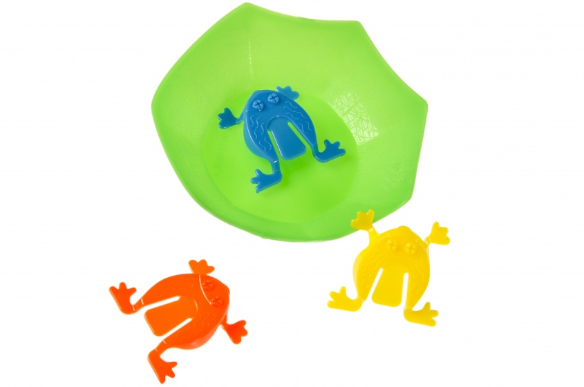 LG-Imports children's game Frog junior 4 cm 4-piece