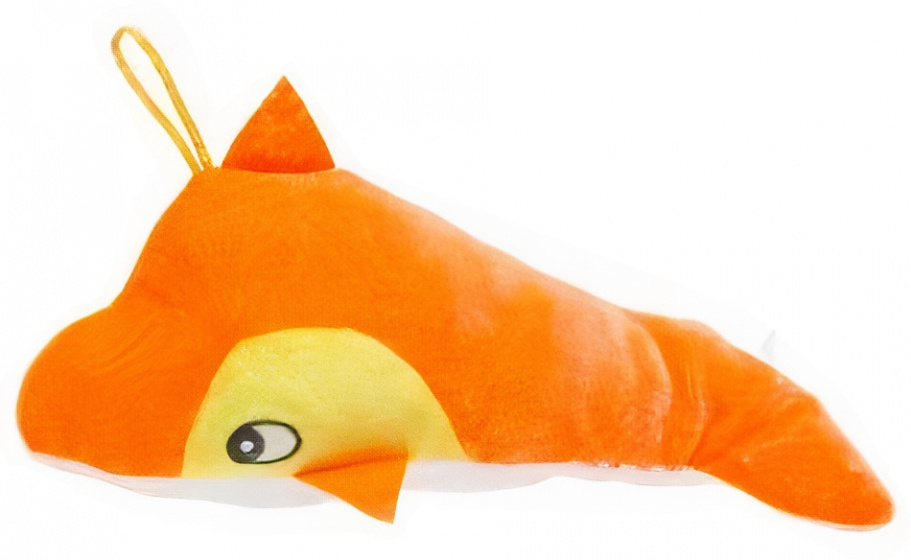 LG Imports knuffeldolfijn meisjes 20 cm pluche oranje