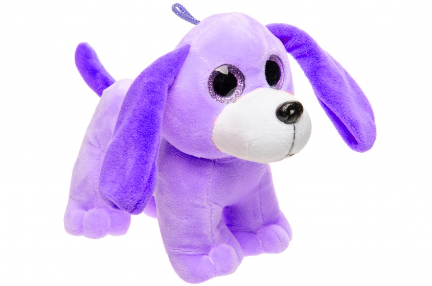 LG Imports knuffelhond paars 22 cm