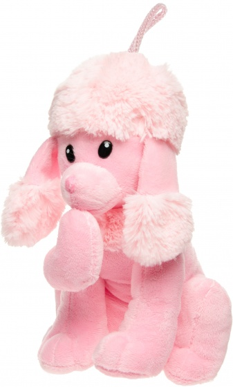 LG Imports knuffelpoedel 21 cm roze
