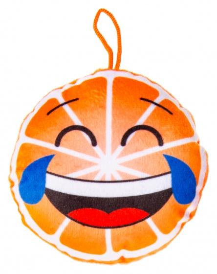 LG Imports knuffelsinaasappel 12 cm oranje