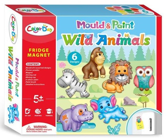 craft set animal magnets cardboard/clay 6-piece