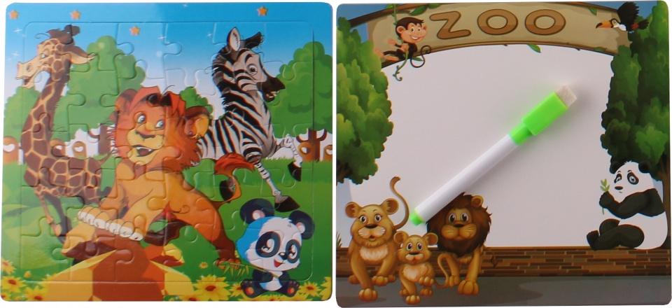 LG Imports legpuzzel met tekenbord Leeuw 30 stukjes