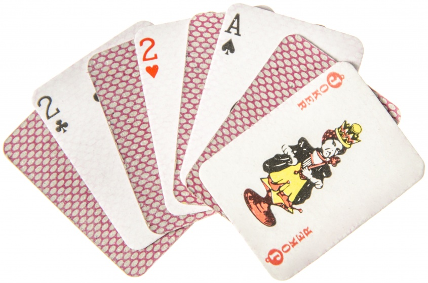 mini playing cards 4 x 3 cm 54-piece