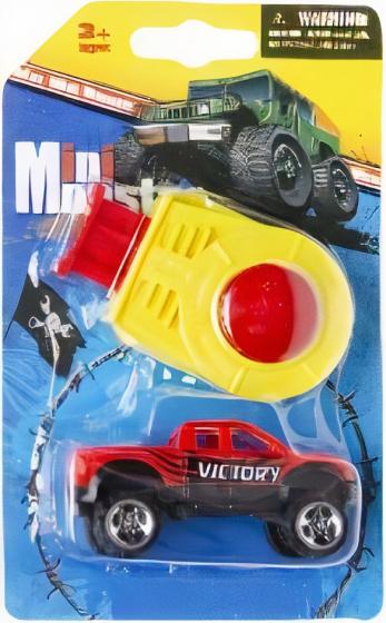LG Imports monstertruck Mini Monster jongens 8 cm rood 2 delig