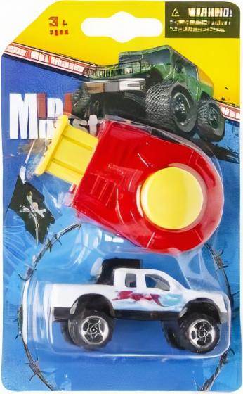 LG Imports monstertruck Mini Monster jongens 8 cm wit 2 delig