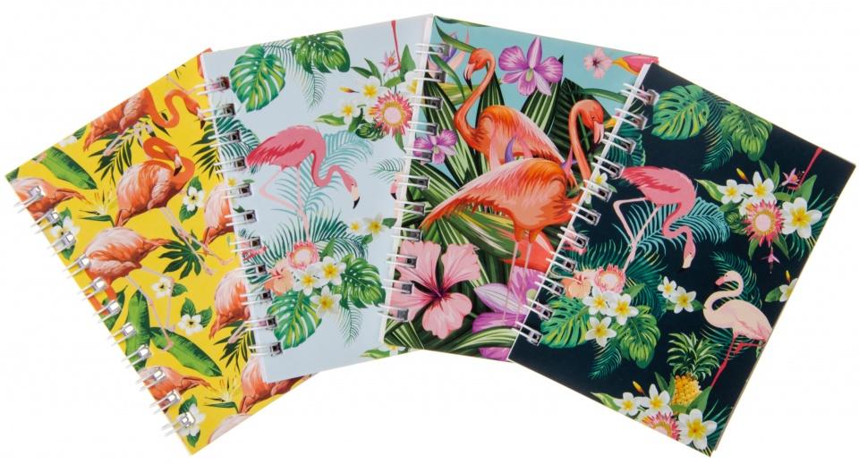 LG Imports notitieblokjes flamingo 4 delig kopen
