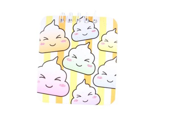 LG Imports notitieboekje meisjes 10 x 8 cm papier geel/oranje