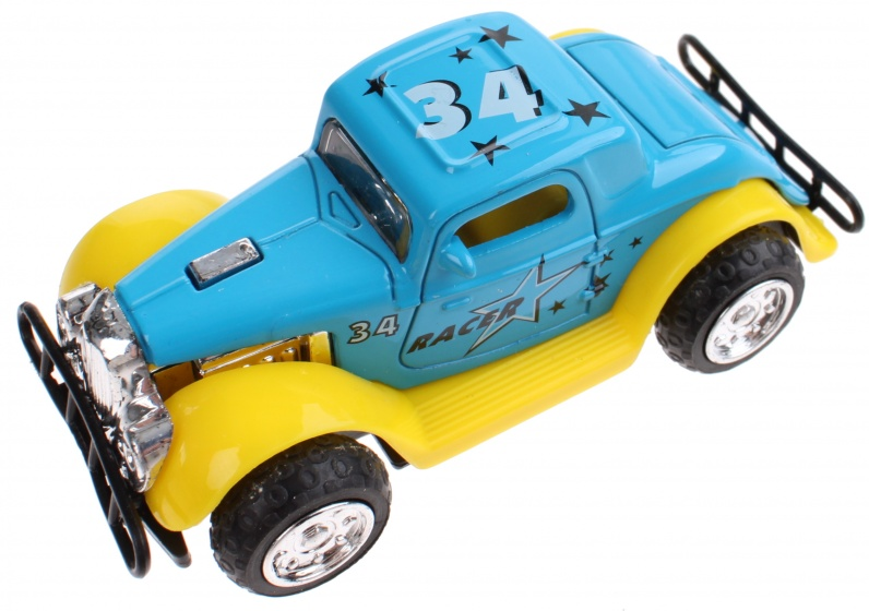 LG Imports oldtimer die cast 10 cm blauw
