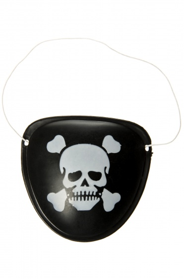 LG Imports Ooglapje doodskop zwart
