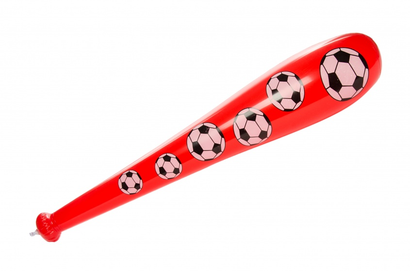 LG Imports opblaasbare honkbalknuppel ballenprint rood 85 cm kopen