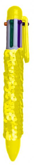 LG Imports pailletten 6 kleurenbalpen geel