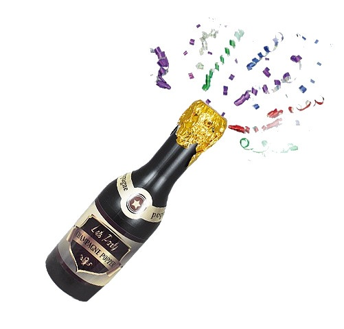LG Imports partypopper champagnefles 40 cm