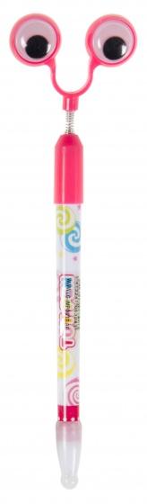 LG Imports pen met bewegende ogen 20 cm roze