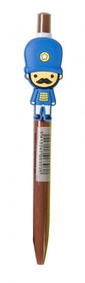 LG Imports pen met poppetje 14 cm bruin