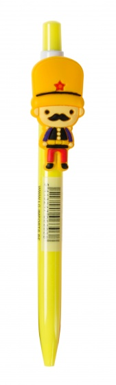 LG Imports pen met poppetje 14 cm geel