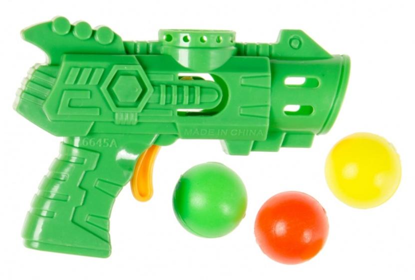 LG Imports pistool met 3 ballen 9 cm groen
