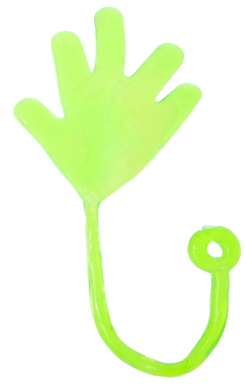 LG Imports plakhand Sticky hand 5 cm groen