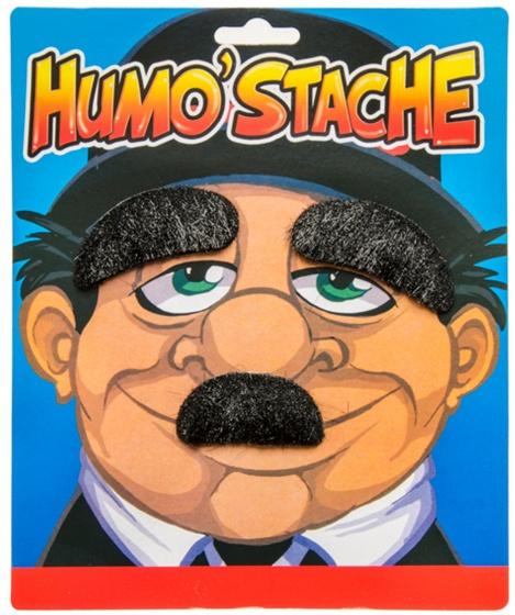 LG Imports plaksnor Humo' Stache zwart Toothbrush