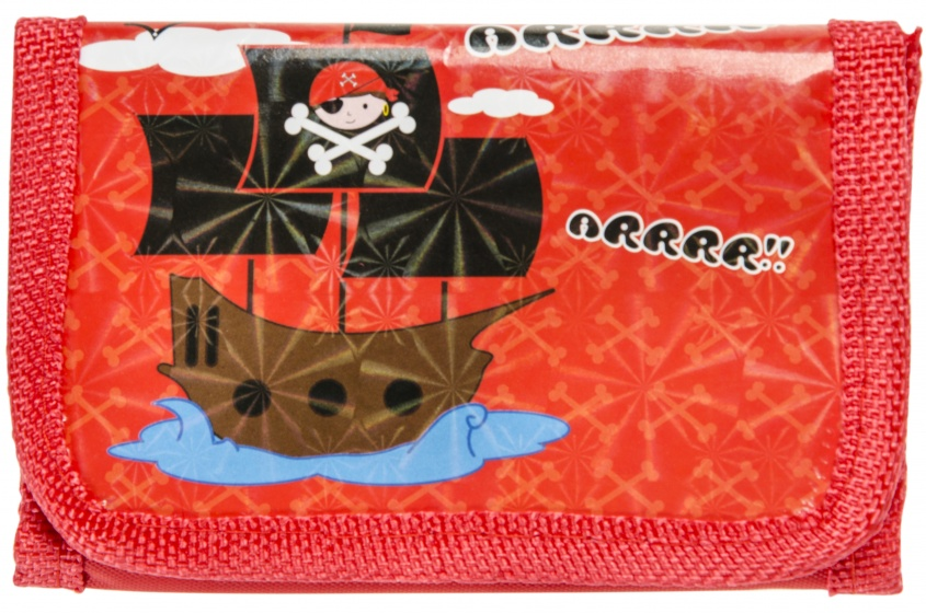 wallet pirates red 12 cm