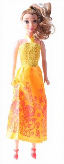 LG Imports prinsessenpop meisjes 28 cm oranje