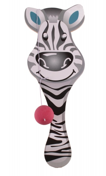racket with ball zebra 23 cm black/white