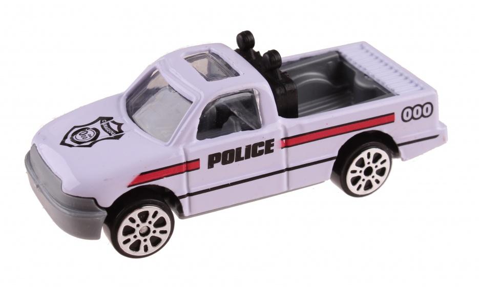 LG Imports schaalmodel Patrol Police pickup 7 cm wit