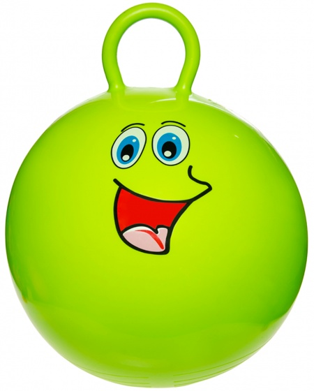 LG Imports skippybal smiley 46 cm groen