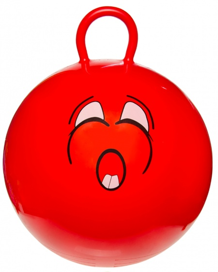 LG Imports skippybal smiley 46 cm rood