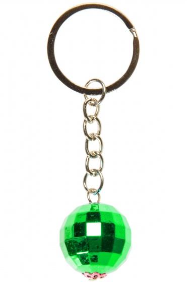 LG Imports sleutelhanger discobal 2 cm groen