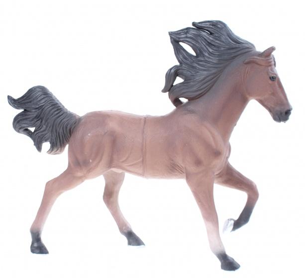 LG Imports Speelpaard 18 cm bruin/ zwart junior
