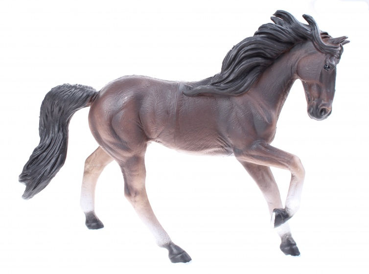 LG Imports Speelpaard 18 cm donkerbruin/ zwart junior