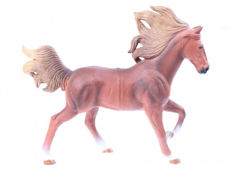 LG Imports Speelpaard 18 cm lichtbruin/ blond junior
