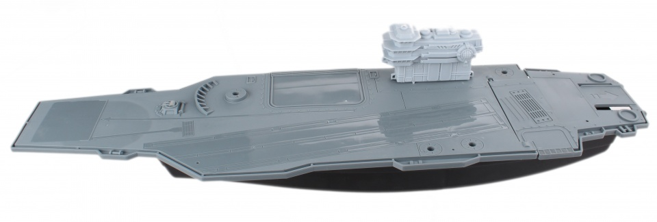 LG Imports speelset Aircraft Carrier grijs 86 cm
