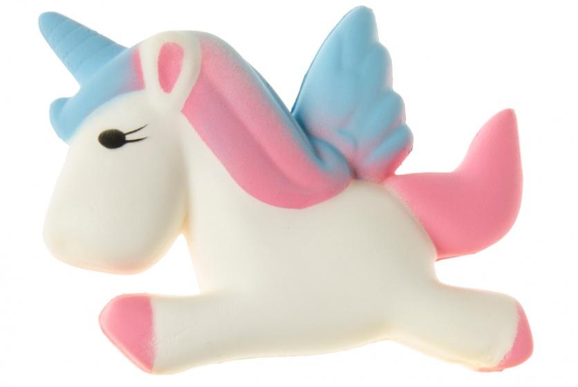 LG Imports squishy eenhoorn blauw/roze 10 cm