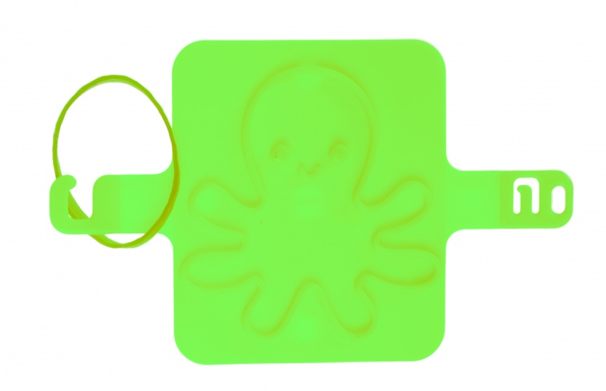 LG Imports strandzegel inktvis 8 cm groen