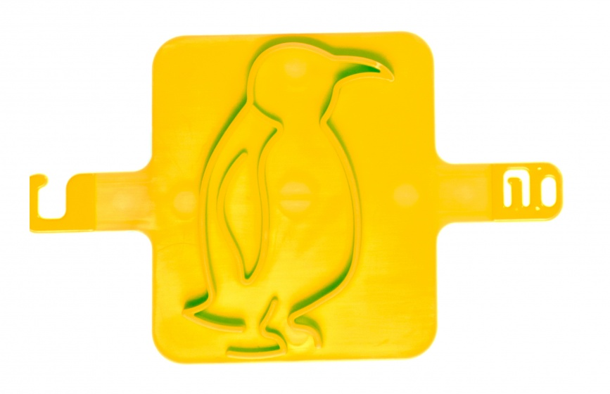 LG Imports strandzegel pinguïn 8 cm geel