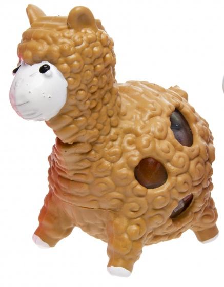 LG Imports stressbal alpaca 5 cm bruin