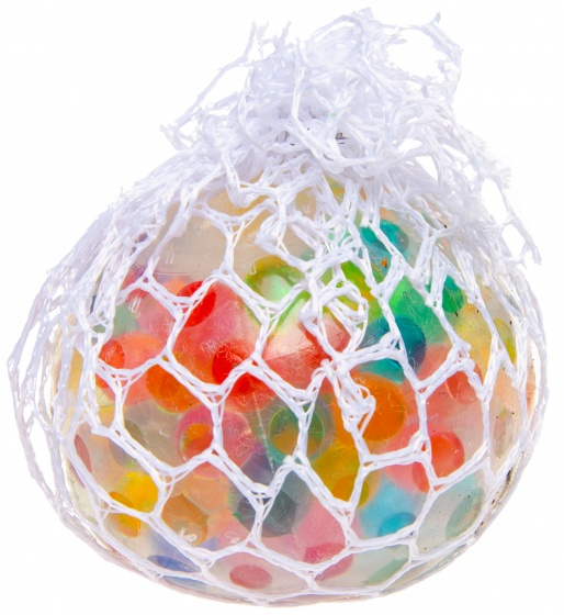 LG Imports stressbal met ballen binnenin multicolor 6 cm