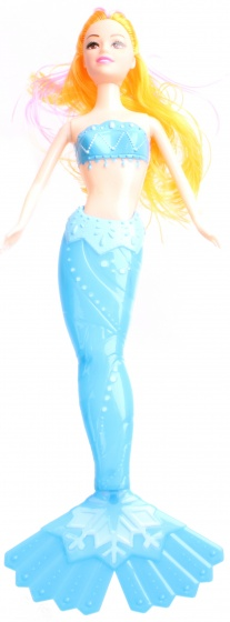 LG Imports tienerpop zeemeermin Pretty 34 cm blauw/blond