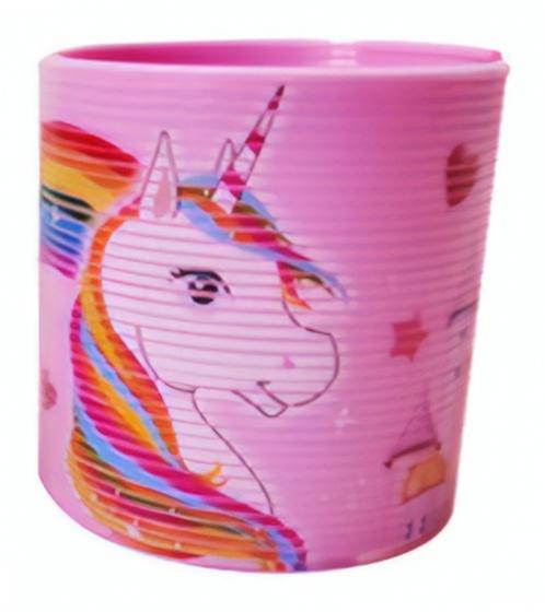 LG Imports trapveer unicorn 6 cm roze/multicolor
