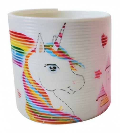 LG Imports trapveer unicorn 6 cm wit/multicolor