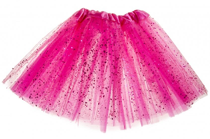 LG Imports tutu Glitter one size donkerroze