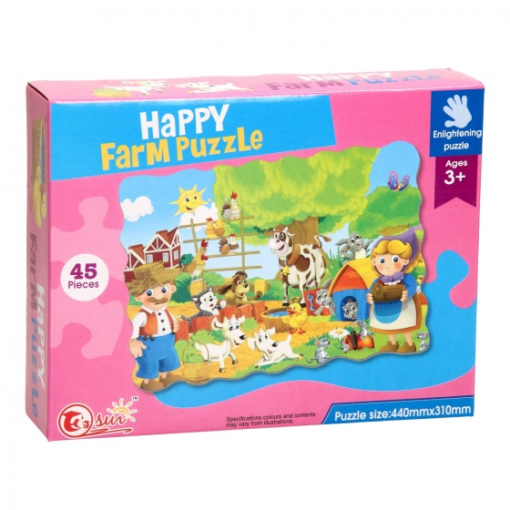 LG Imports vloerpuzzel Happy Farm 44 x 31 cm 45 delig multicolor kopen