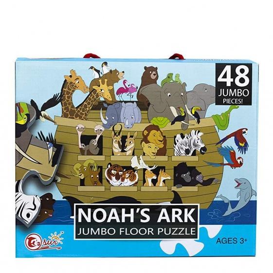 LG Imports vloerpuzzel Noah's Ark 90 x 60 cm 48 delig multicolor kopen